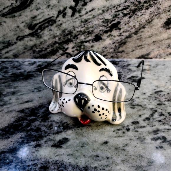 🌵Vintage Ceramic Dog Eyeglass Holder